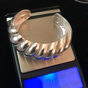 Jewelry - Sterling cuff bracelet adjustable suit to fit
